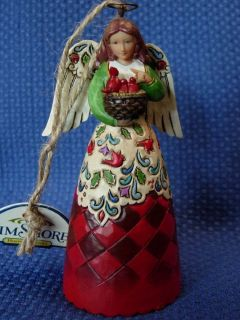JIM SHORE HEARTWOOD CREEK ~ CHRISTMAS ANGEL WITH CARDINALS HANGING