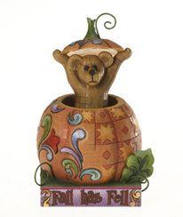 Boyds JIM SHORE Bearstone Bear in Pumpkin HARVEY Autumnsworth Fall has