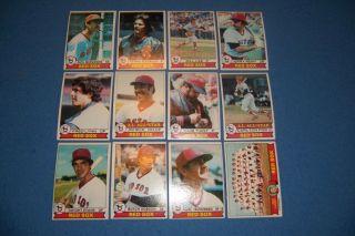 Red Sox Complete Set of 27 Cards Yastrzemski Fisk Rice Lynn