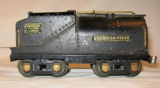 PREWAR AMERICAN FLYER STEAM LOCOMOTIVE COAL TENDER IN C 5 GOOD