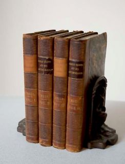 George Selwyn His Contemporaries by John H Jesse 4 Leather Vols