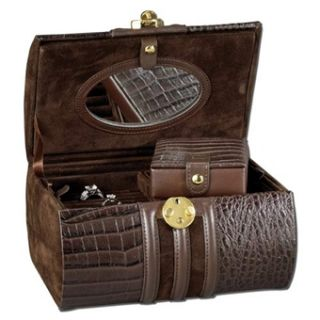 Travel Jewelry Box with Curved Lid Lock and Mini Traveler Case
