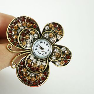 Fashion Jewelry New Women Crystal CZ Gemstone Butterfly Watch Rings