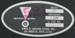Pair Jim Lansing JBL Model 075 Bullet Tweeter Horn Speakers 8 Ohms
