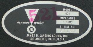 Pair Jim Lansing JBL Model 075 Bullet Tweeter Horn Speakers 8 Ohms