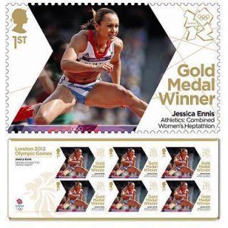 2012 Olympic Stamps Miniature Sheet Jessica Ennis Heptathlon