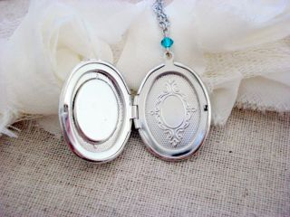 H20 Just Add Water Mermaid Inspired Locket Pendant Necklace (Silver