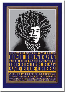 Jimi Hendrix Hamersveld Art Poster Print by Shepard Fairey