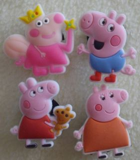 PC Peppa Pig Shoe Charms Fit Crocs Jibbitz