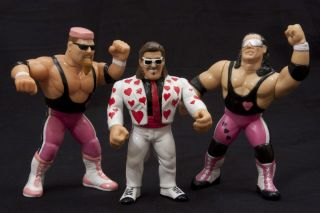 Hart Foundation Jimmy Hart WWF Hasbro custom wrestling figures WCW WWE