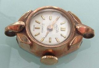 40s 50s Enicar Swiss 17J Ladies Rose GF Watch Art Deco Style
