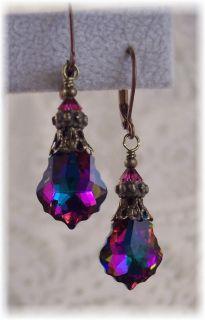 Greens Crystal Filigree Jewelry Earrings   HisJewelsCreations Design