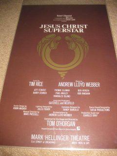 Jesus Christ Superstar Original Broadway Poster