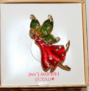Holiday Lane Angel Christmas Brooch Jewelry Pin New Box