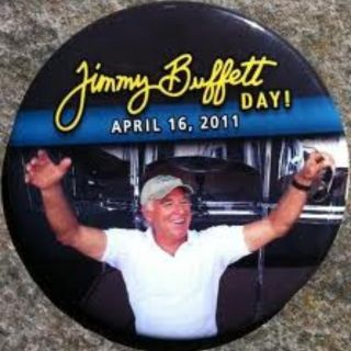 Jimmy Buffett Day Button Pin Collectable Margaritaville Landshark