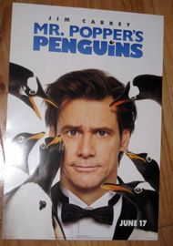 2011 Jim Carrey Mr Poppers Penguins Promo Movie Poster New 20x13 5