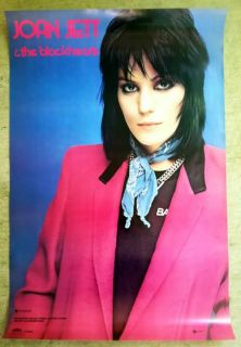 Joan Jett 1981 Original Promo Poster 23x35 I Love Rock N Roll Runaways