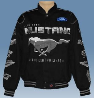 MUSTANG Official Jacket 5 Size Black 100% Cotton Twill by JH Design