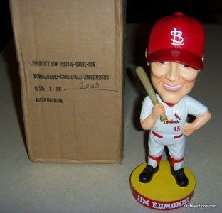 15 Jim Edmonds Bobblehead Baseball St Louis Cardinals w Original Box