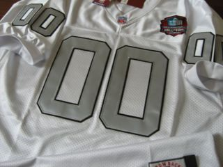 Oakland Raiders 00 Jim Otto Throwback w HOF Patch sewn Jersey 54 white