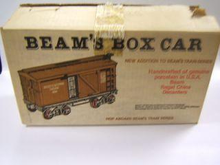 Jim Beam Bottle Box Car Jersey Western Railway