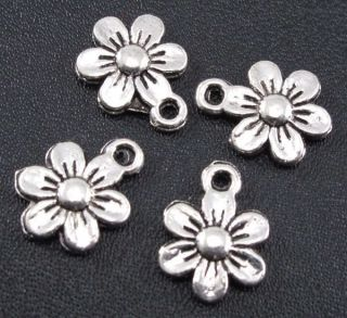 Tibetan Silver Pendant Sunflower Charms 13x10mm Jewelry Findings F194A