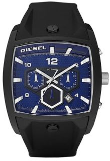 Brand New Diesel Mens Blue Poly Black Band Chrono DZ4188 Watch