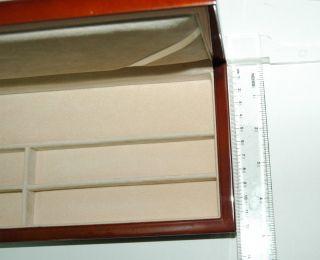 Wood Watch Jewelry Box 4 7 8 D x 11 5 8 w x 1 3 8 H