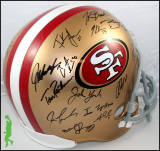 2012 San Francisco 49ers Team Signed F s Football Helmet 28 Autos