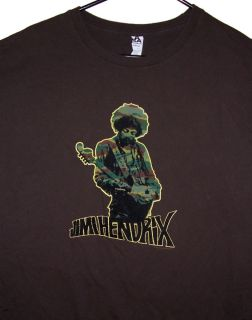 Jimi Hendrix shirt Experience Band of Gypsies Woodstock Guitar Purple