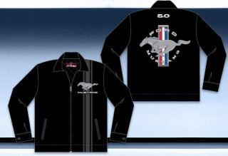 Mustang Logo Work Mechanic Auto Jacket Coat JH Design Quilted
