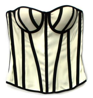 Skweez Couture by Jill Zarin Z Bra Shaping Corset Off White Black Sz L