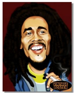 New Bob Marley Ziggy Marley Jimmy Cliff A05 Cover Cartoon Poster 16 x