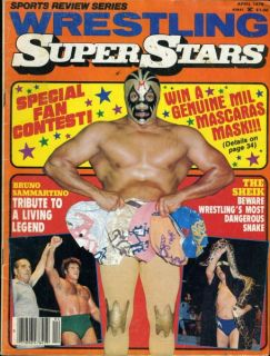Mil Mascaras Wrestling Superstars Magazine April 1978 Bruno Sammartino