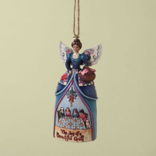 Jim Shore Heartwood Creek Enesco Quilt Angel Ornament 4027724 2012