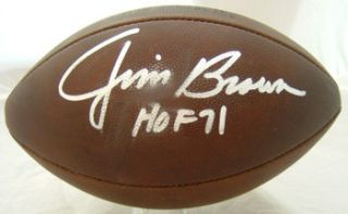 Jim Brown Autographed Cleveland Browns Duke Football