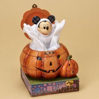 Jim Shore Disney Halloween Beware of Pumpkin Patch New