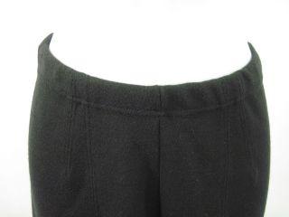 Joan Vass Black Elastic Waist Straight Leg Pants Sz 1