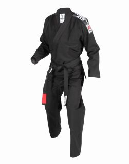 Air Gi Black Brazilian Jiu Jitsu Uniform Ultra Light IBJJF