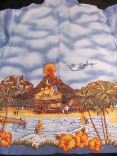Jimmy Buffetts Margaritaville Mens L s s Hawaiian Shirt