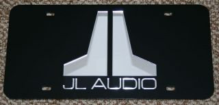 JL Audio Logo Laser Cut Mirror License Plate Tag 10 12 W7 W6