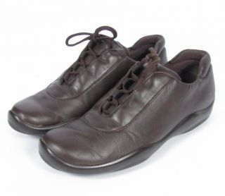 Prada Brown Leather Lace Up Athletic Trainers Sneaker Shoes Sz 39 9