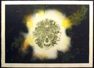 James Rome Grateful Dead Original Color Intaglio Art Etching Artwork