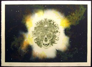 James Rome Grateful Dead Original Color Intaglio Art Etching Artwork