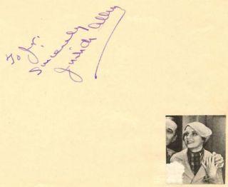 Judith Allen Vintage 30s Signed Album Page Autographed