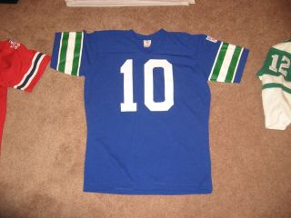 1970s Seattle Seahawks Football Jersey 10 Jim Zorn