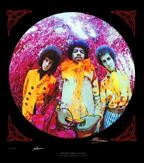 This image was on the front cover of the Jimi Hendrix Experience album