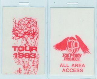 Aerosmith Joe Perry Project 1983 Laminated AAA Pass