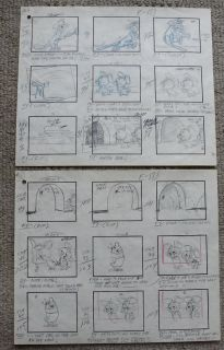 Pixie and Dixie Mr Jinks Complete 16 Page Storyboard Set Hanna Barbera