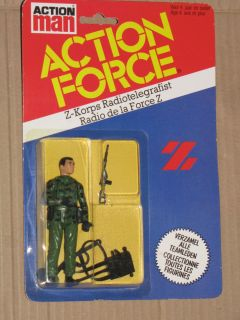 Palitoy 80s Action Force/Gi joe/G.i.joe Z FORCE RADIO OPERATOR Figure